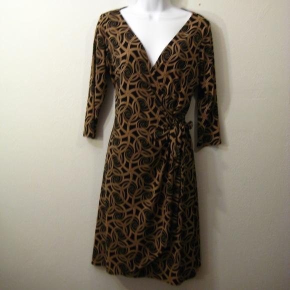 London Times Dresses & Skirts - London Times Wrap Swirl Dress